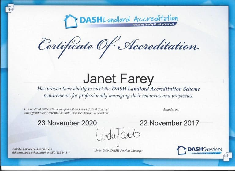 DASH Landlord Accreditation